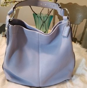 COACH Lavender Leather Purse Hobo Bag